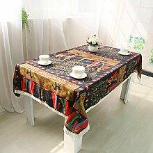 National Style Menschen und Pferd Tischdecke