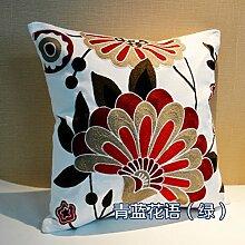 National wind cushion kissen,Cross stickerei büro sofa bett kissen,Back kissen ohne kern-E 45x45cm(18x18inch)VersionB