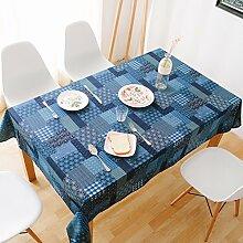 Nationalen-stil garten tisch cloth mittelmeer baumwolle leinen rechteckig-B 140x300cm(55x118inch)