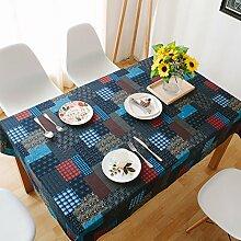 Nationalen-stil garten tisch cloth mittelmeer baumwolle leinen rechteckig-C 140x195cm(55x77inch)