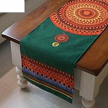 Nationalen Wind Tischl?ufer/Moderne minimalistische Tischdecke/Tetabellentuch/Tischdecke-Flagge/Bett-banner/Bett-Tücher-A 35x150cm(14x59inch)