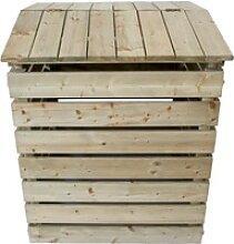 NATIV Garten Komposter Komposter aus Holz mit