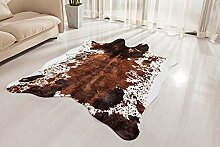 NativeSkins Kunstrindsleder-Teppich, groß (1,4 x