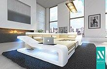 NATIVO© STOFFSOFA MIRAGE XL mit LED Beleuchtung Ecksofa Sofa Garnitur