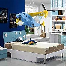 Natsen® Moderne Kinderzimmer lampe LED Flugzeughängeleuchte Cartoon für Jungen (Fassung 3 x E27 Leuchtmittel)