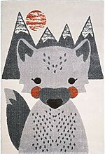 Nattiot Kinderteppich MR Fox Fuchs (140 x 150 cm)