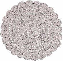 Nattiot Teppich Alma zeltgrau Durchmesser 120 cm