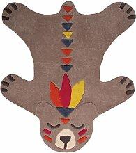 Nattiot Teppich Haut von Bären Akko 1Fuß auf