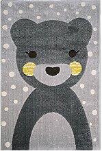 Nattiot Teppich Kinder Tiere Otto Bär grau