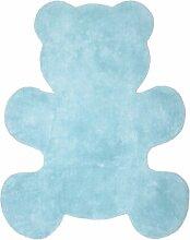 Nattiot Teppich Little Teddy blau Baumwolle 100 x