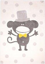 Nattiot Teppich Polka Monkey beige