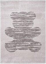 Nattiot Teppich Tedy, Vintage, Grau, PVC, 170 x