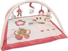 Nattou Charlotte & Rose Krabbeldecke mit Spielbogen Elefant (Rosa) [Babyspielzeug]
