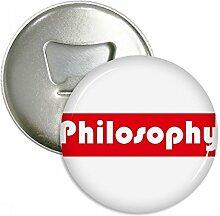 Natürlich und Major Philosophie rot rund