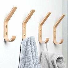 Natürliche Holz-Kleiderhaken zur Wandmontage,