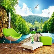 Natürliche Landschaft Szenische Wasserfallbrücke
