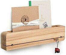 Natuhr Schlüsselbrett Ablage Holz Eiche