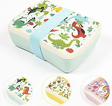 NATUMO® Premium Kids Holz Lunch Box Aus Bambus
