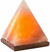 Natur himalayan Steinsalz Kristall Pyramide Lampe mit Holzbasis