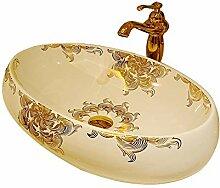 Natur Marmor Stein Waschbecken Keramik Waschbecken