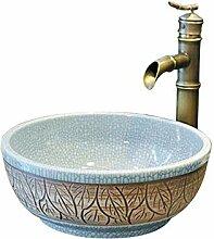 Natur Marmor Stein Waschbecken Keramikwaschbecken