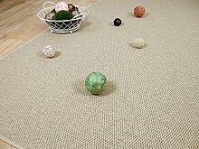 Natur Teppich Wolle Bentzon Flachgewebe Beige in 24 Größen