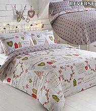 Natur Weihnachten Einzelbett Bettbezug &