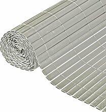 Nature Garten-Sichtschutz für Zäune 1x3 m PVC Grau 6050375