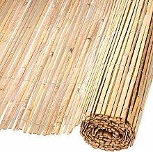 Nature Gartenzaun Bambus 1,5x5 m Sichtschutzzaun