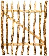 Nature LOUNGE Gartentor Haselnuss 100 x 90 cm - Hochwertig verarbeitetes Staketen-Zauntor - Robustes und Witterungsbeständiges Staketenzaun Tor