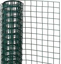 Nature Maschendraht Gartenzaun Gitterzaun Zaun quadratisch 1x5 m Grün 6050266