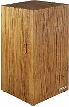 NATUREHOME Baumstamm Hocker Massiv-Holz Natur geölt Eiche Beistelltisch