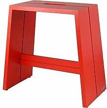 NATUREHOME Design-Hocker Massivholz Buche rot mit