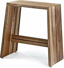 NATUREHOME Design Hocker Massivholz Nussbaum natur geölt Sitzhocker Holz