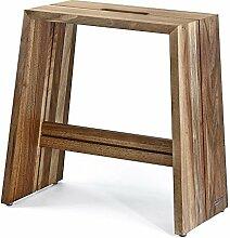 NATUREHOME Design Holz Hocker Sitzhocker Nussbaum Massivholz Nuss Tragegriff