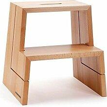 NATUREHOME Design Tritthocker Holz - Buche natur
