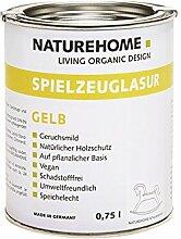NATUREHOME Spielzeuglasur Bio Dunkelgrün 750 ml Holzlasur Möbellasur