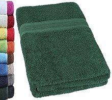 NatureMark SAUNATUCH PREMIUM Qualität 80x200cm Sauna-Handtuch 100% Baumwolle Farbe: Dunkel grün