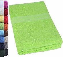 NatureMark SAUNATUCH Premium Qualität 80x200cm Sauna-Handtuch 100% Baumwolle Farbe: Apfel Grün