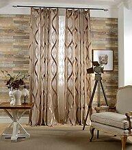 Naturer Braun 2er Set Vorhang Wohnzimmer