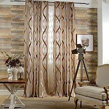 Naturer Braun Vorhang Transparent 260x140 Lang