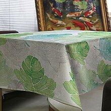 Naturer Gartentischdecke Tischdecke für Innen