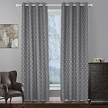 Naturer Grau Vorhang Blickdicht Ösenschal 145x140