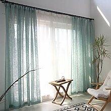 Naturer Grün Vorhang Transparent 260x140 Lang