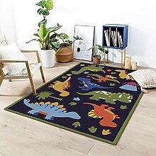 Naturer Kinderteppich Jungen Dinosaurier 140x200