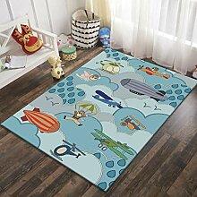Naturer Teppich Kinderzimmer Junge 80x160 Größe