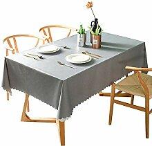 Naturer Tischdecke Mehrfarbig Grau Tischtuch