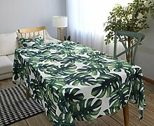 Naturer Tischdecke Tropical Tischtuch Grün