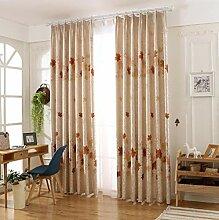 Naturer Vorhänge Wohnzimmer Kräuselband Braun