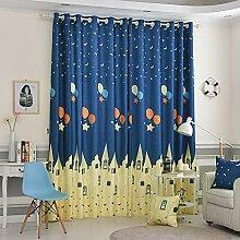 Naturer Vorhang Blickdicht Kinderzimmer Jungen